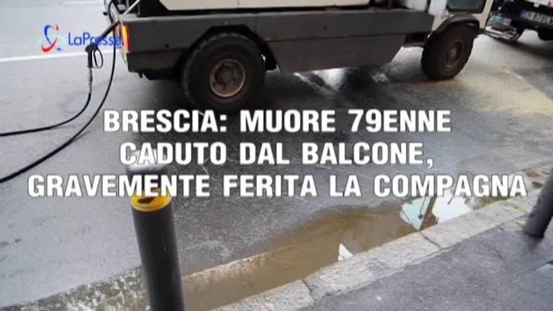 BRESCIA: MUORE 79ENNE CADUTO DAL BALCONE