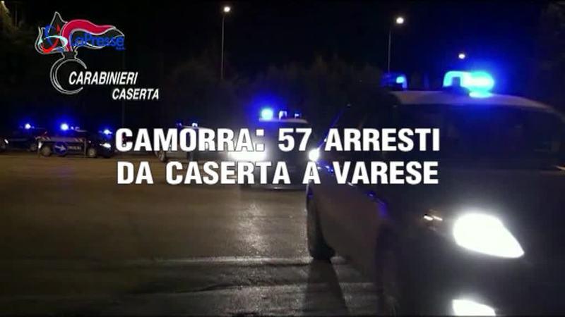 CAMORRA: 57 ARRESTI DA CASERTA A VARESE
