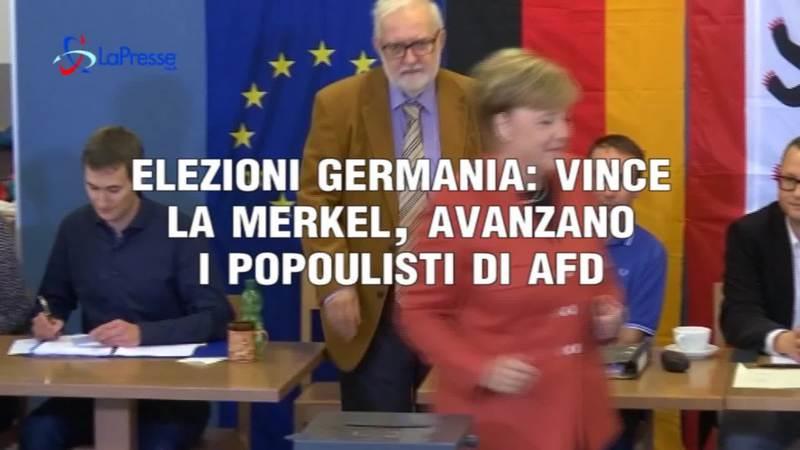 ELEZIONI GERMANIA: VINCE LA MERKEL