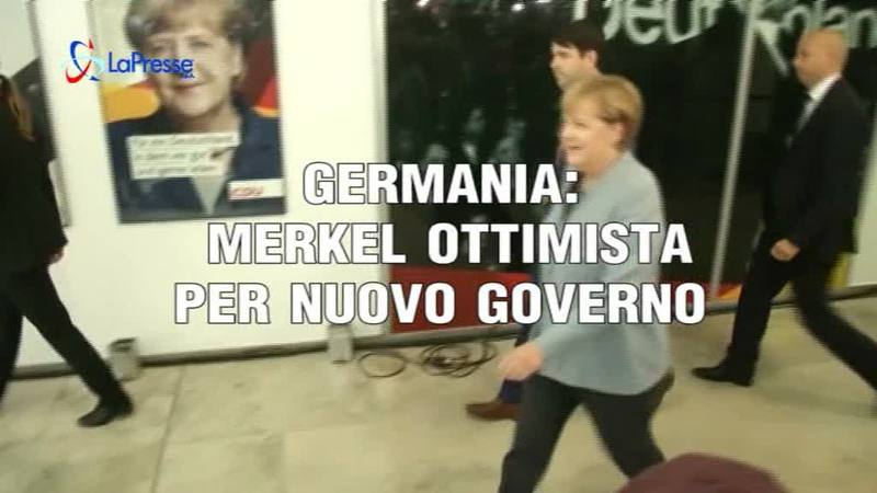 GERMANIA: MERKEL OTTIMISTA PER NUOVO GOVERNO