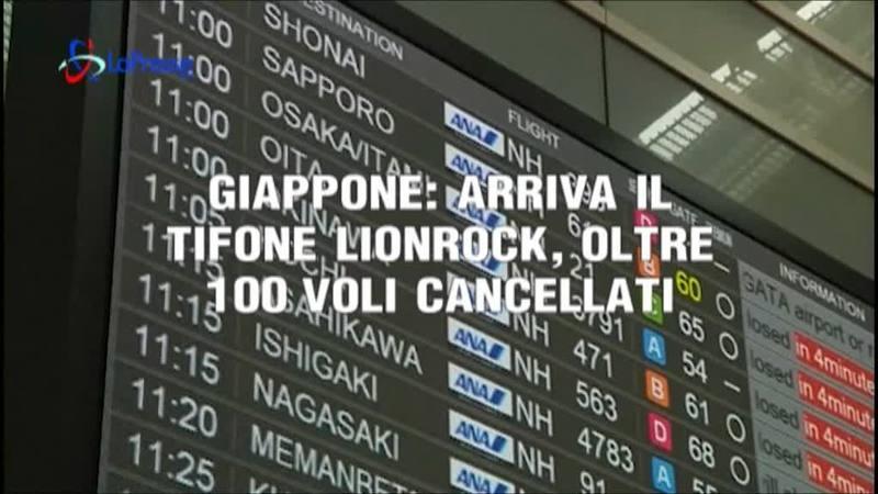GIAPPONE, ARRIVA IL TIFONE LIONROCK: 100 VOLI CANCELLATI