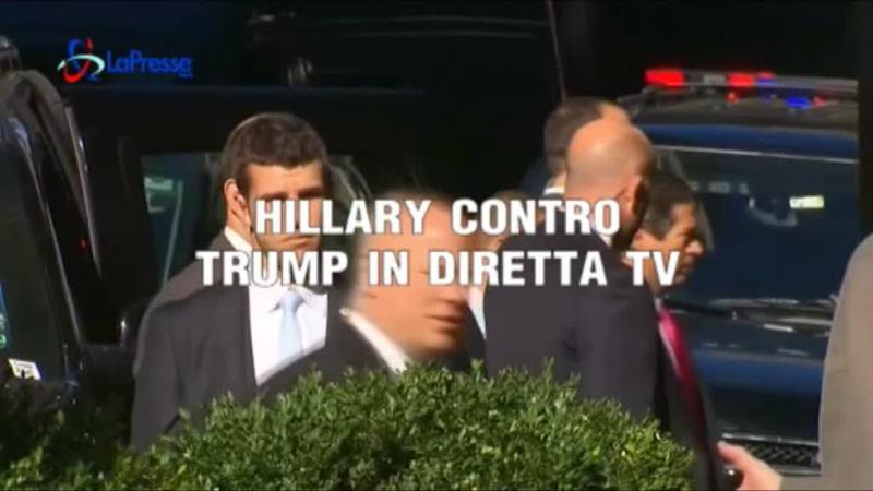 HILLARY VS TRUMP IN DIRETTA TV