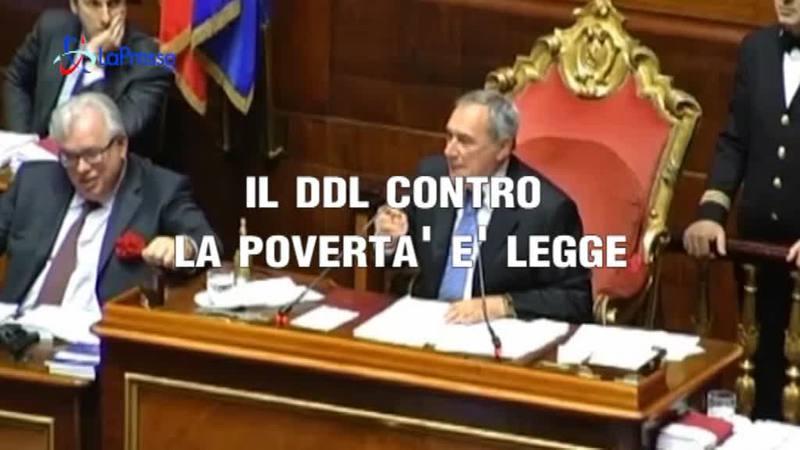 IL DDL CONTRO LA POVERTA' E' LEGGE