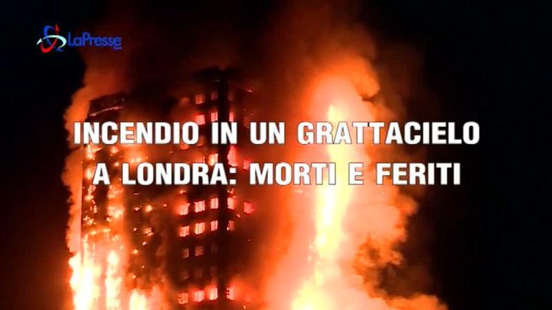 INCENDIO IN UN GRATTACIELO A LONDRA: MORTI E FERITI