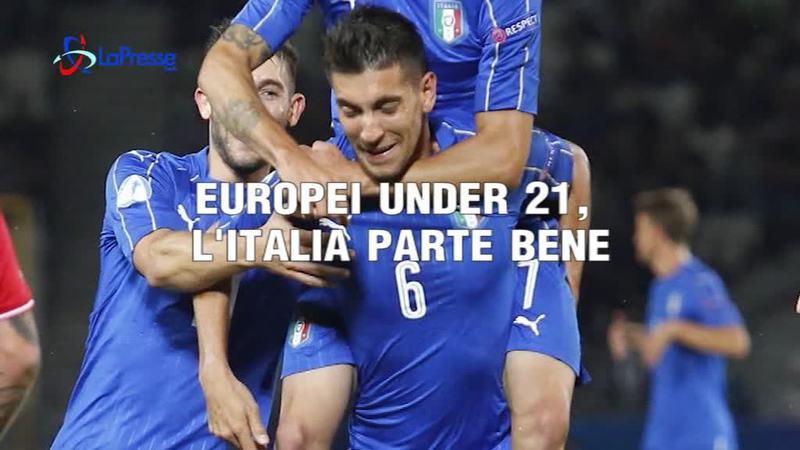 L'EUROPEI UNDER 21 L'ITALIA PARTE BENE