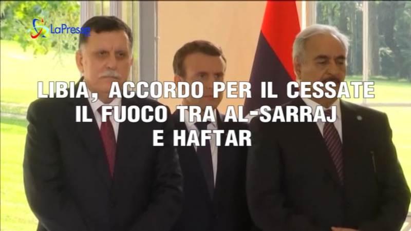 LIBIA, ACCORDO PER IL CESSATE IL FUOCO