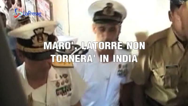 MARO': LA TORRE NON TORNERA' IN INDIA