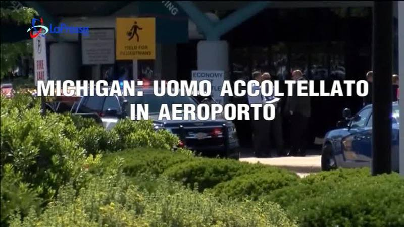 MICHIGAN: UOMO ACCOLTELLATO IN AEROPORTO