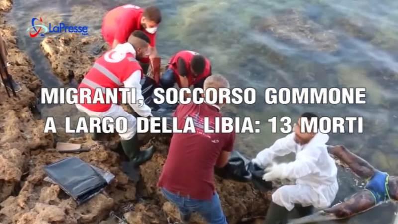 MIGRANTI, SOCCORSO GOMMONE IN LIBIA: 13 MORTI