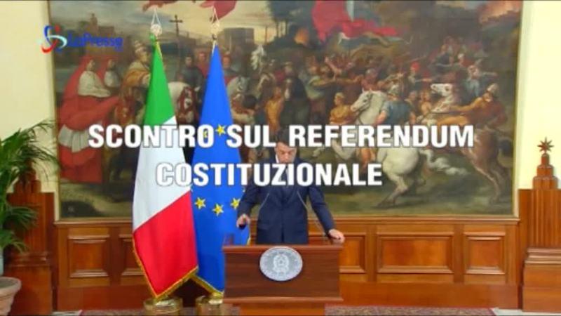 POLITICA: SCONTRO SU REFERENDUM COSTITUZIONALE