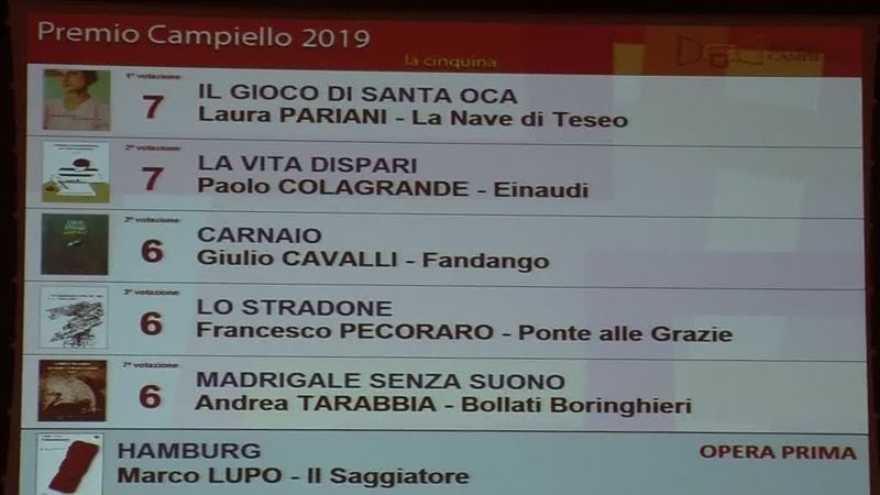 PREMIO CAMPIELLO, I CINQUE FINALISTI