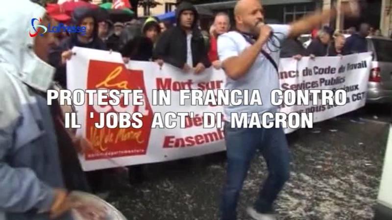 PROTESTE IN FRANCIA CONTRO IL 'JOBS ACT' DI MACRON