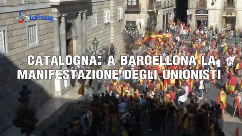 CATALOGNA: A BARCELLONA MANIFESTAZIONE UNIONISTI