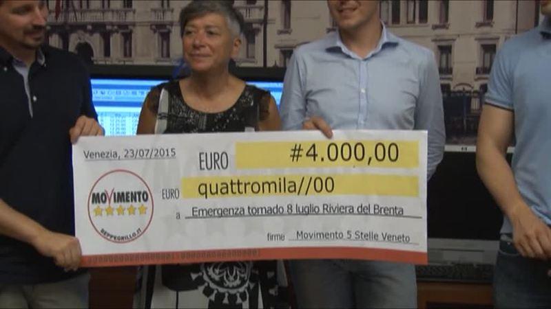 GRUPPO M5S VERSA 4 MILA EURO A VITTIME TORNADO
