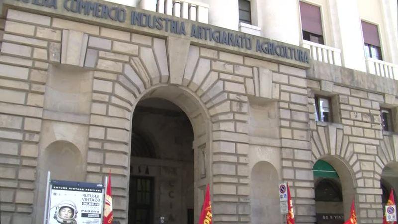INFOCAMERE: PRESIDIO DEI LAVORATORI A PADOVA