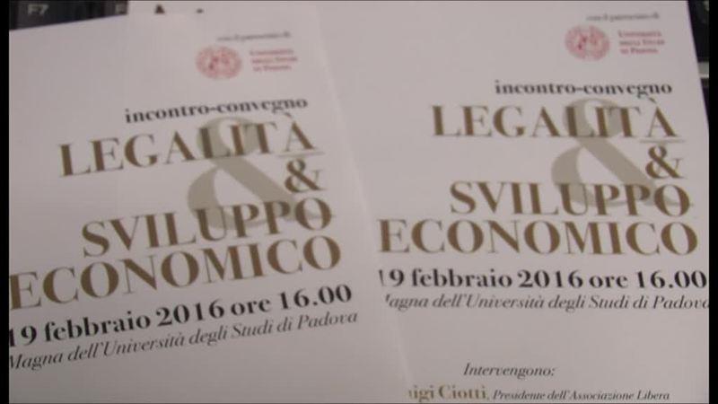 LEGALITA' E SVILUPPO ECONOMICO: DON CIOTTI A PADOVA