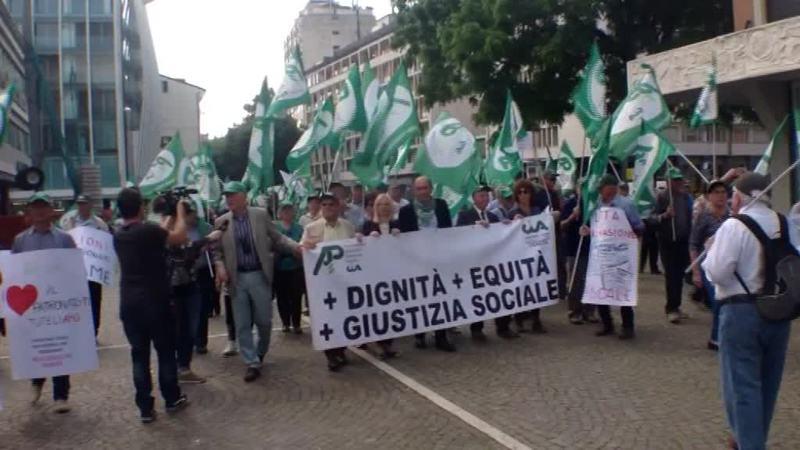 PENSIONATI VENETI, UN CORTEO DI PROTESTA A PADOVA