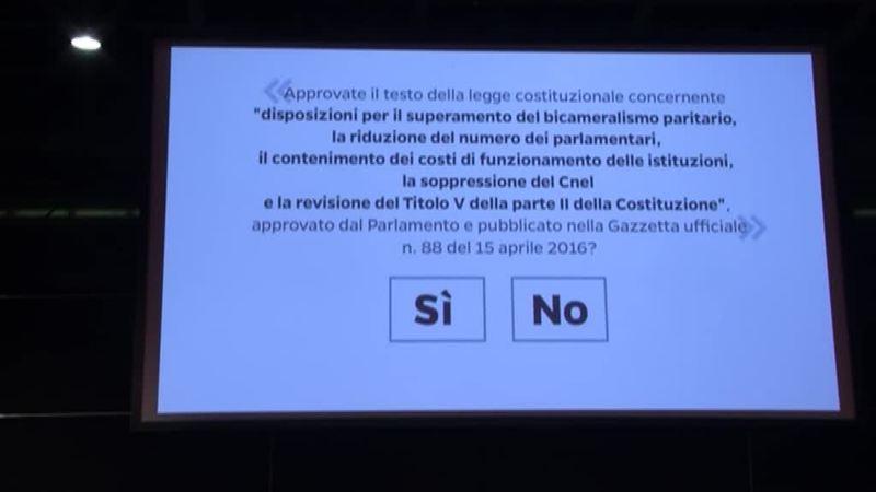 REFERENDUM COSTITUZIONALE: DEMOCRATICI DIVISI