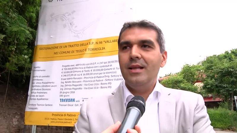 """TEOLO-TORREGLIA: APRE IL CANTIERE SULLA SP 98 """"VALLAREGA"""""""