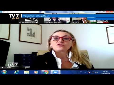 TV7 CON VOI DEL 19/3/2020 –  QUESTIONI DI LEGALITà