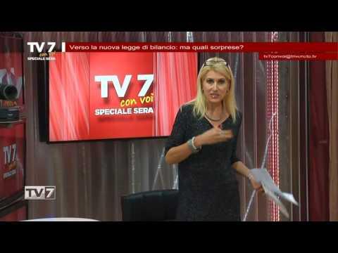 TV7 CON VOI SERA DEL 15/11/2016 –  NUOVA LEGGE DI BILANCIO