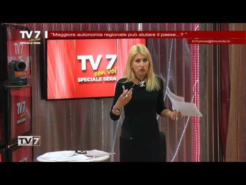 TV7 CON VOI SERA DEL 16/5/2017 – MAGGIORE AUTONOMIA