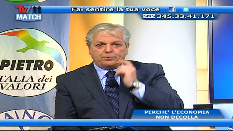 TV7 MATCH: L' ECONOMIA NON DECOLLA