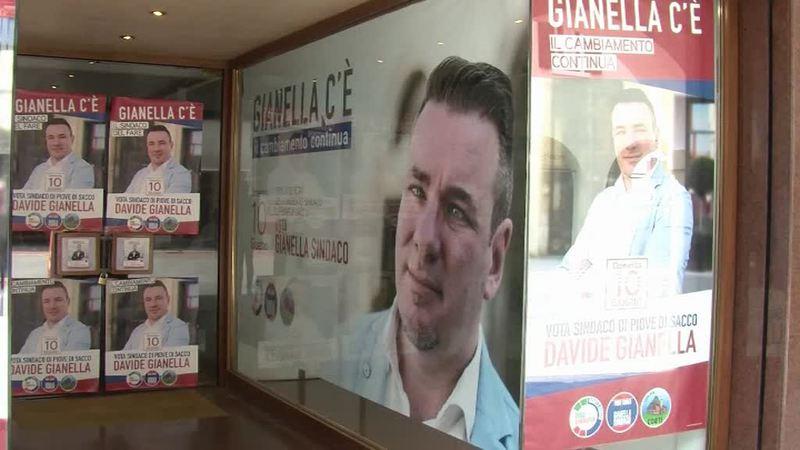 URNE A PIOVE DI SACCO, IL CANDIDATO DAVIDE GIANELLA