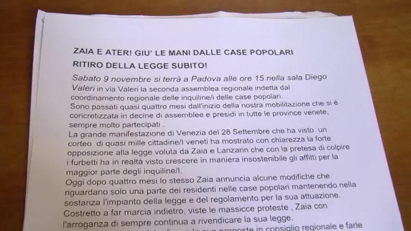 ZAIA E ATER, GIU' LE MANI DALLE CASE POPOLARI!