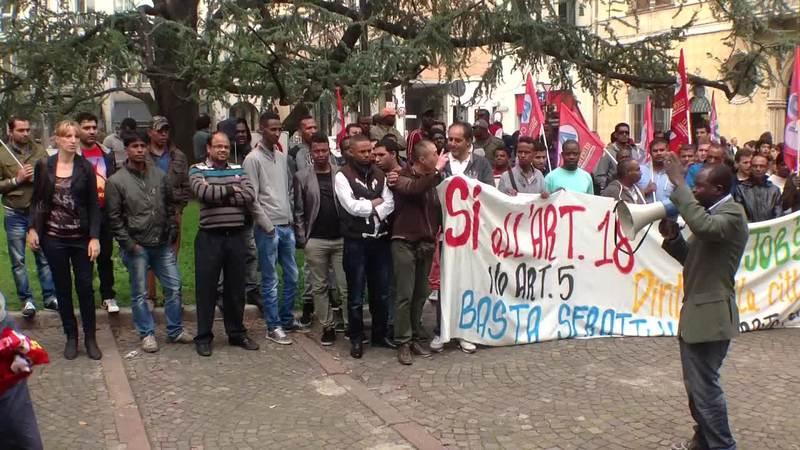 SCIOPERO DELLA LOGISTICA LA PROTESTA A PADOVA