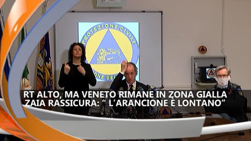 VENETO RIMANE IN ZONA GIALLA  IREPORTER 07/05/21